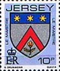 Jersey 1981 Arms of Jersey Families SG 259 Fine Mint