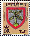 Jersey 1981 Arms of Jersey Families SG 262a Fine Used