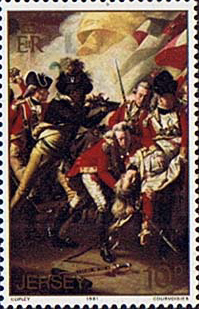 Stamp Postage Stamps Jersey 1981 Battle of Jersey Painting Fine Mint SG 245 Scott 24