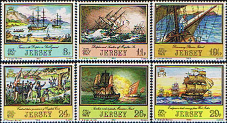 Postage Stamps Stamp Postage Stamps Jersey 1983 Adventurers Set Fine Mint