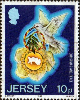 Jersey 1986 Christmas. International Peace Year SG 402 Fine Used
