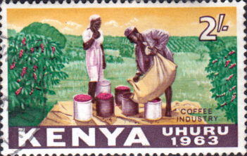 Postage Stamps Kenya 1963 Independence Coffee SG 11 Fine Used Scott