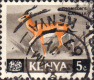 Kenya 1966 Republic Animals SG 20 Fine Used