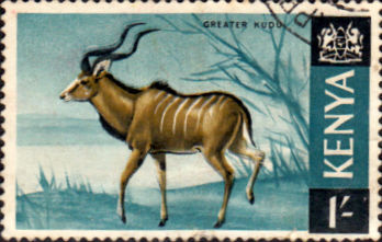 Postage Stamps Kenya 1966 Republic Animals Greater Kudu SG 29 Fine Used Scott