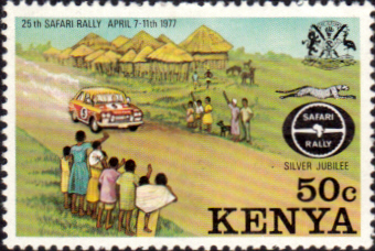 Postage Stamps Kenya 1977 Safari Rally SG 81 Fine Mint Scott 76