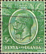 Stamp Stamps Kenya Uganda 1922 King George V SG 78 Fine Used Scott 20