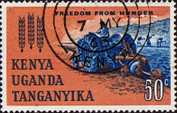 Stamp Postage Stamps Kenya Uganda Taganyika 1963 Freedom from Hunger SG 201 Fine Used Scott 138