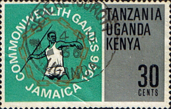 Stamp Postage Stamps Kenya Uganda Tanzania 1966 British Empire and Commonwealth Games SG 227 Fine Used Scott 164