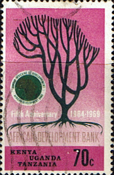 Stamp Postage Stamps Kenya Uganda Tanzania 1969 African Development Bank VI SG 269 Fine Used Scott 206