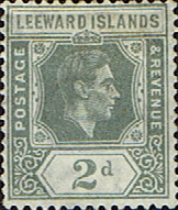 Stamps Stamp Leeward Islands 1938 SG 102 King George VI Fine Mint SG 103 Scott 107