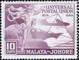 Malay State of Johore 1949 SG 148 Universal Postal Union Fine Mint