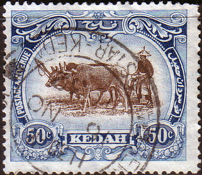 Maly Stamps Kedah 1912 Ploughing SG 10 Fine Used Scott 16