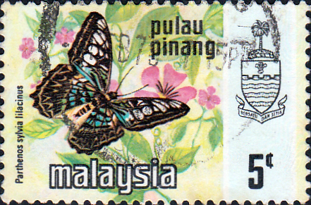 Malay State of Penang 1971 Butterflies SG 77 Fine Used