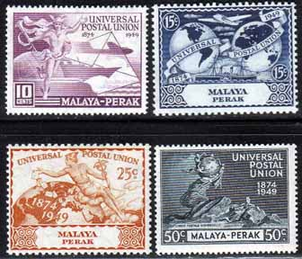 Stamps of Malaya Perak 1949 Universal Postal Union