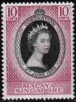 Malaya Singapore Queen Elizabeth II 1953 Coronation Fine Mint