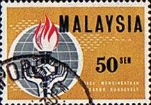 Malaysia 1964 Eleanor Roosevelt Commemoration SG 11 Fine Used