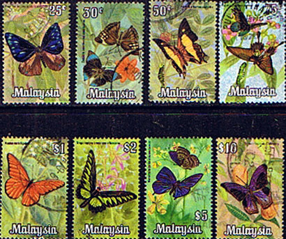 Malaysia 1970 Butterflies Set Fine Used