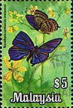 Malaysia 1970 Butterflies SG 70 Fine Used
