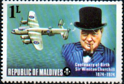 Maldive Islands 1974 Churchill Centenary SG 535 Fine Mint