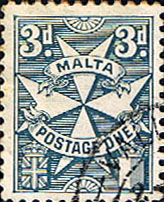 Malta 1925 Post Due SG D16 Fine Used
