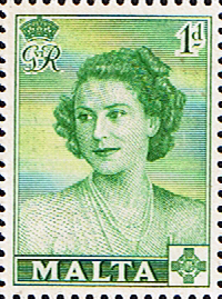 Stamps Malta 1950 Princess Elizabeth Royal Vist Fine Mint SG 255 Scott 229