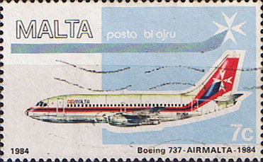 Malta Stamps 1984 Air Malta Planes SG729 Fine Used Scott C15