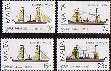 Postage Stamps Stamp Malta 1985 Ships Set Fine Mint