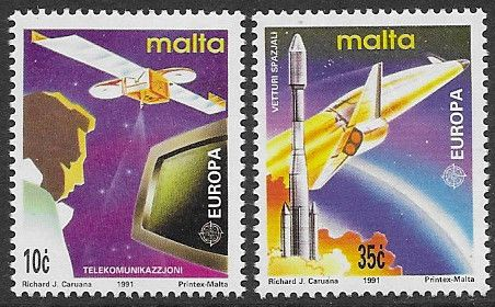 Postage Stamp Stamps Malta 1991 Europa Europe in Space Fine Mint SG 889 Scott 770