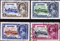 Mauritius 1935 King George V Silver Jubilee Set Fine Used