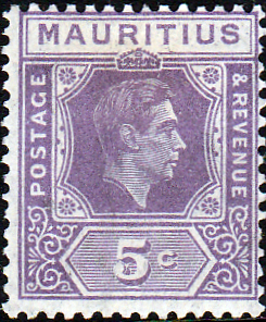 Mauritius Stamps 1938 King George VI Fine Used SG 255a Scott 214