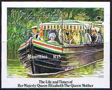 Stamp Stamps Mauritius 1985 Queen Mother Life and Times Miniature Sheet Fine Min