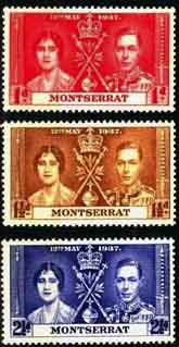 Postage Stamps Montserrat 1937 King George VI Coronation