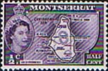 Montserrat 1953 Queen Elizabeth II SG 136a Map of the Island Fine Mint