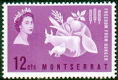 Stamps Montserrat 1963 Freedom From Hunger Fine Mint