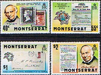 Montserrat Stamps 1979 Rowland Hill