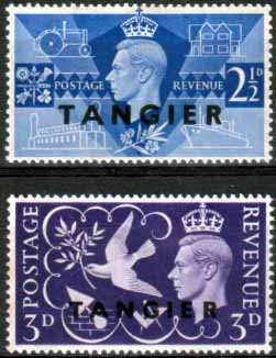 Morocco Agencies Tangier Stamps 1946 King George VI Victory Set Fine Mint