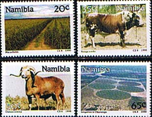 Stamps Namibia 1990 Farming Set Fine Mint