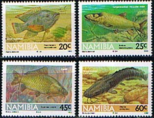 Stamps of Namibia 1992 Freshwater Angling Set Fine Mint