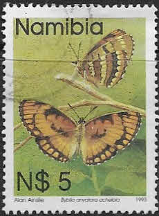 Stamps of Namibia 1993 Butterflies Set Fine Mint
