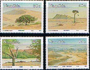 Postage Stamp Stamps Namibia 1993 Desert Scenery Set Fine Mint