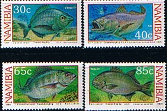 Namibia 1994 Coastal Angling Fish Set Fine Mint