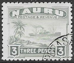 Nauru Stamp 1954 Nauruan Netting Fish