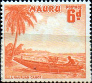 Nauru Stamps 1954 Great Frigate Bird