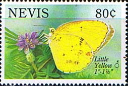 Nevis 1993 Butterfly SG 738 Little Yellow Fine Mint