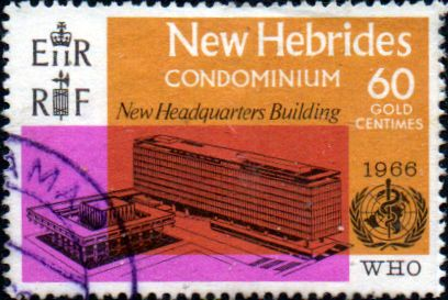 New Hebrides 1966 New Hebrides British1966 World Health Organisation SG 121 Fine Used