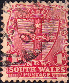 New South Wales 1905 SG 334 Shield Fine Used