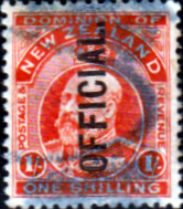 New Zealand 1910 King Edward VII Official SG O77 Good Used