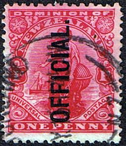 New Zealand 1910 Official SG O78 1d Universal Fine Used