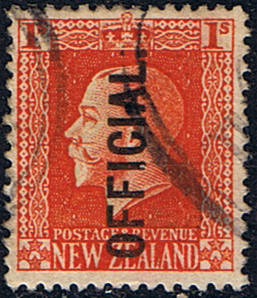 New Zealand 1915 King George V Official SG O105b Fine Used