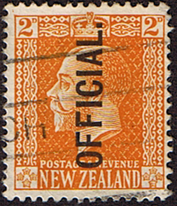 New Zealand 1915 King George V Official SG O98 Fine Used